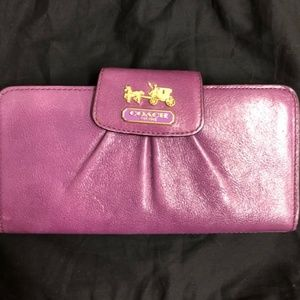 Coach Bags - Coach Madison Leather Slim Wallet